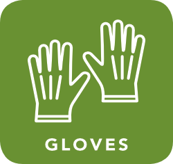 icon of gloves which are acceptable for recycling