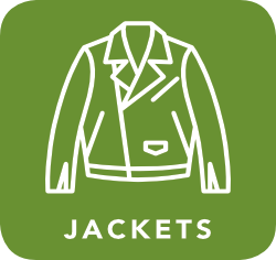 icon of jacket which is acceptable for recycling