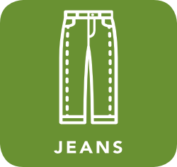 icon of jeans which are acceptable for recycling
