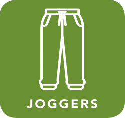 icon of joggers which are acceptable for recycling