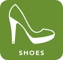 icon of shoes which are acceptable for recycling