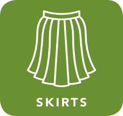 icon of skirt which is acceptable for recycling
