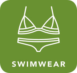 icon of swimwear which is acceptable for recycling