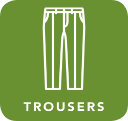 icon of trousers which are acceptable for recycling
